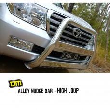 TJM Alloy Nudge Bar High Loop - 100 Series Landcruiser