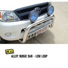 TJM Alloy Nudge Bar Low Loop - 150 Prado